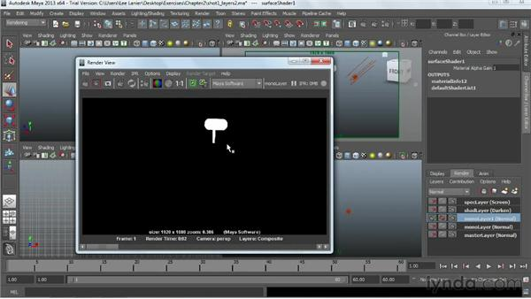 Adding flexibility by assigning material and render overrides: Maya Rendering for After Effects Composites