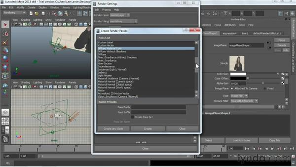 Creating render passes using mental ray: Maya Rendering for After Effects Composites