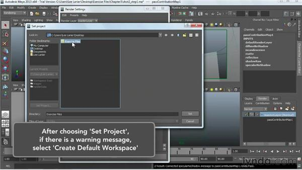 Batch rendering render passes: Project two: Maya Rendering for After Effects Composites