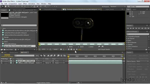 Recombining render passes in a composition: Maya Rendering for After Effects Composites