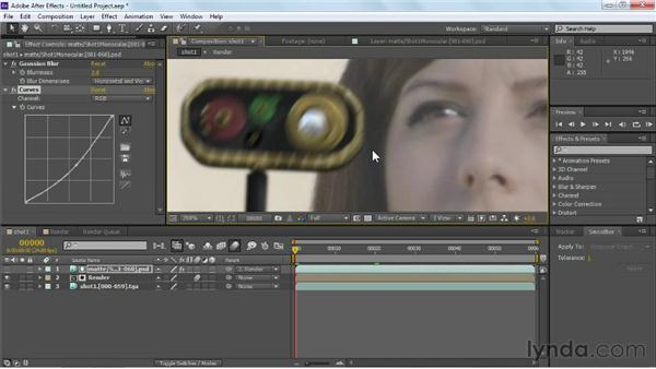 Improving the CG by adding blur and effects: Maya Rendering for After Effects Composites