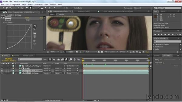 Adding shadow to make the composite believable: Maya Rendering for After Effects Composites