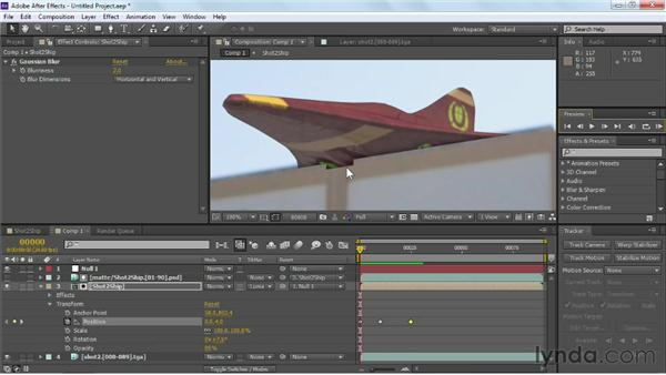 Adjusting shadows and matte edges: Maya Rendering for After Effects Composites