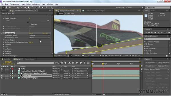 Using color correction to improve layer integration: Maya Rendering for After Effects Composites