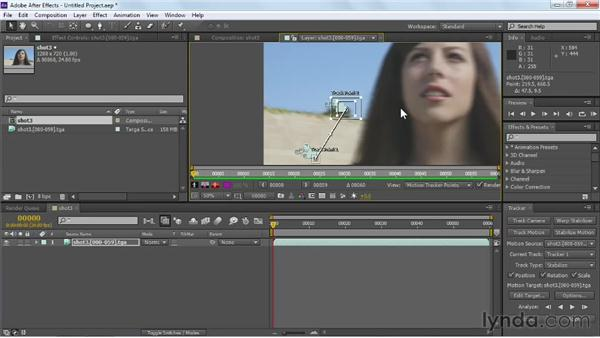 Stabilizing shaky video with the Tracker: Maya Rendering for After Effects Composites