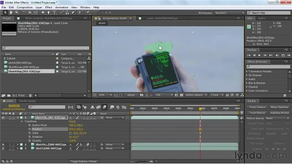 Applying corner pin data to multiple layers: Maya Rendering for After Effects Composites
