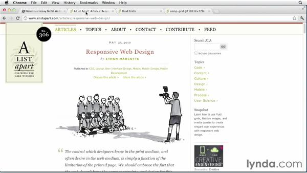 The foundation of responsive web design: Responsive Design with Dreamweaver CS6