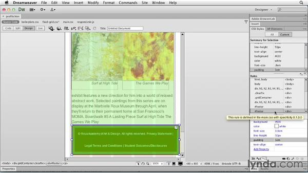 Targeting a phone design: Responsive Design with Dreamweaver CS6