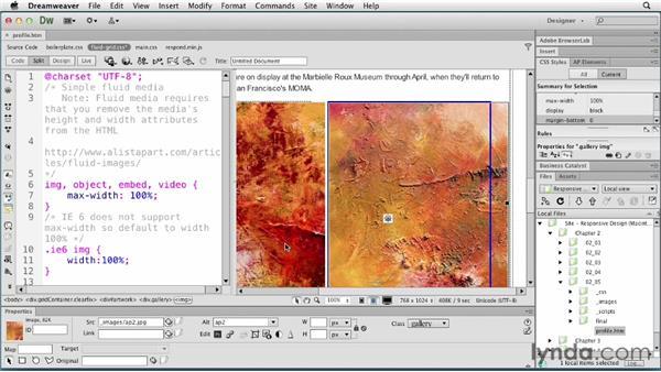 Balancing tablet layouts: Responsive Design with Dreamweaver CS6
