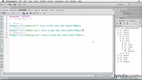 Handling orientation changes: Responsive Design with Dreamweaver CS6
