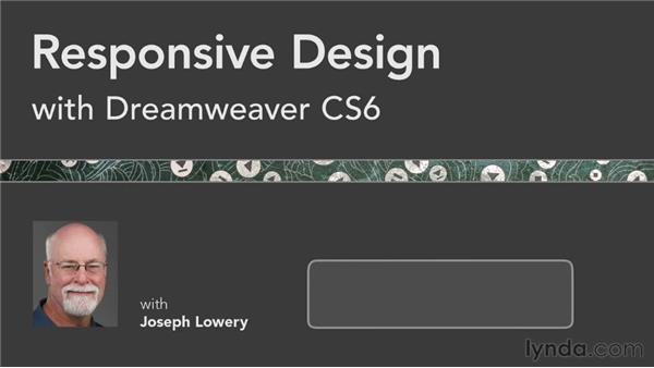 Next steps: Responsive Design with Dreamweaver CS6