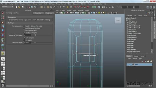 Unwrapping the face frame: Game Prop Creation in Maya
