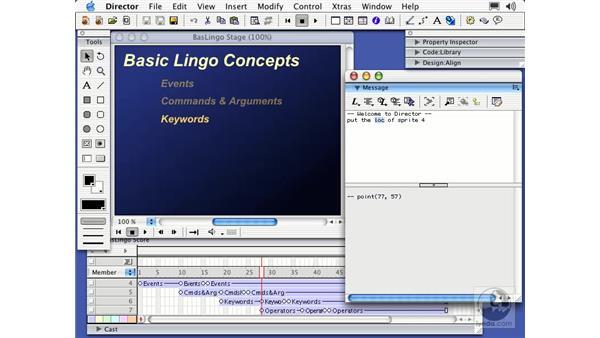 basic lingo concepts: Director MX Essential Training