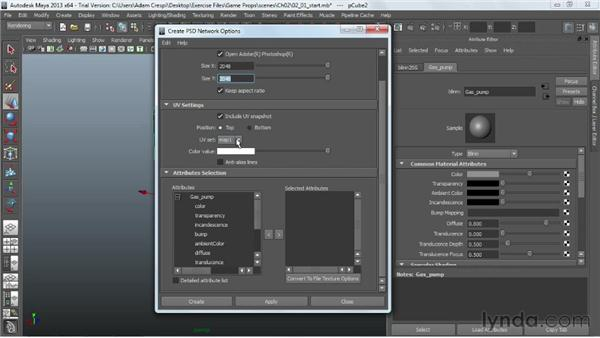 Overview of the texturing process and PSD networks: Game Prop Creation in Maya