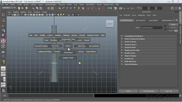 Modeling a sledgehammer: Game Prop Creation in Maya