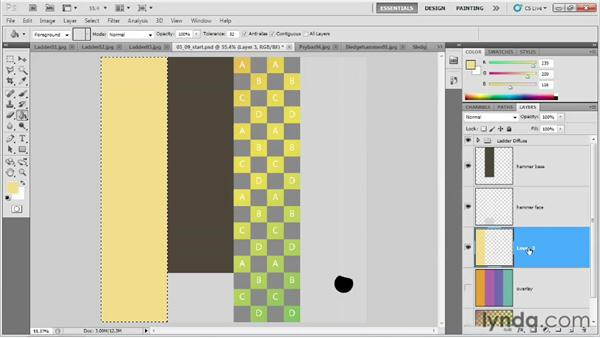 Laying out a texture sheet for multiple tools: Game Prop Creation in Maya