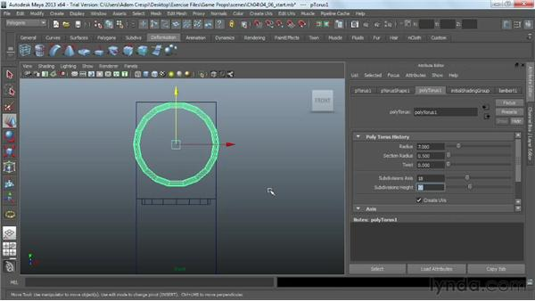 Blocking out the form of a round chair: Game Prop Creation in Maya