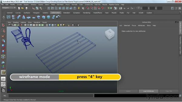 Blocking out the basic table form: Game Prop Creation in Maya