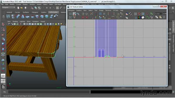 Laying out the wood texture: Game Prop Creation in Maya