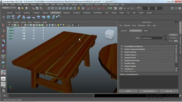 Understanding the importance of a low poly count: Game Prop Creation in Maya