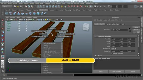 Working with hard edges and subdividing: Game Prop Creation in Maya