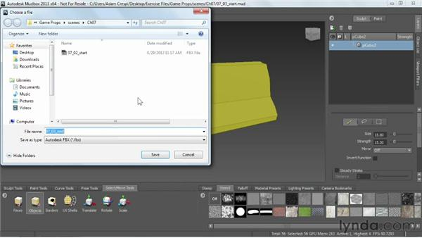 Importing from Mudbox: Choosing the right resolution: Game Prop Creation in Maya