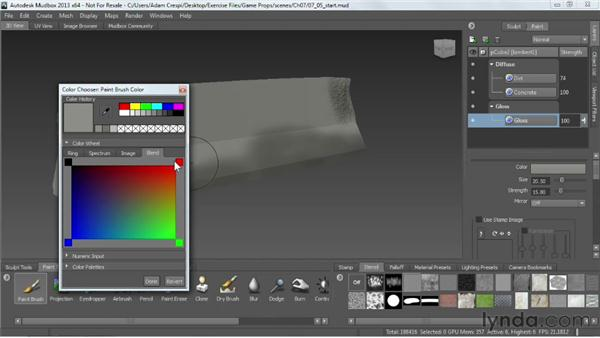 Painting: Game Prop Creation in Maya
