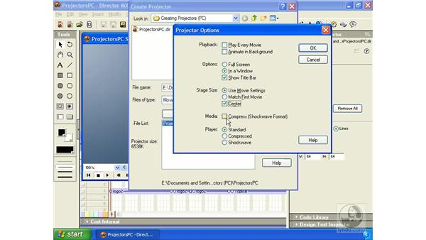 creating projectors for Windows: Director MX Essential Training