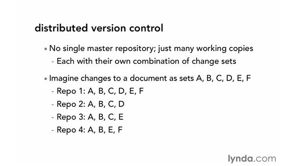 About distributed version control: Git Essential Training