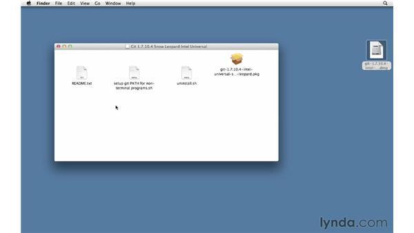 Installing Git on a Mac: Git Essential Training