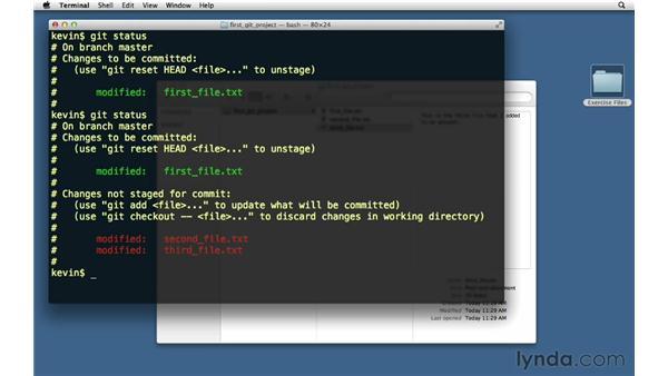 Editing files: Git Essential Training