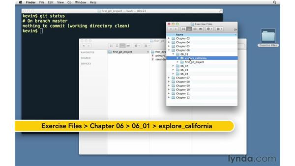 Introducing the Explore California web site: Git Essential Training