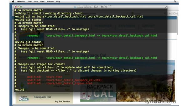 Editing the backpack file name and links: Git Essential Training