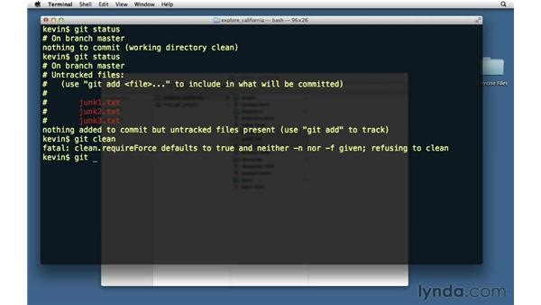 Removing untracked files: Git Essential Training