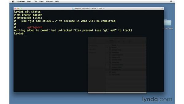 Using .gitignore files: Git Essential Training