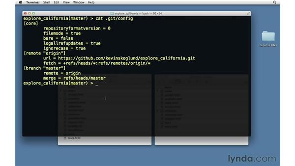 Tracking remote branches: Git Essential Training