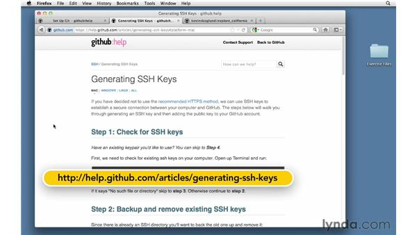 Using SSH keys for remote login: Git Essential Training