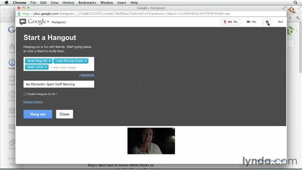Starting hangouts: Google+ for Business (2012)