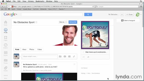 Optimizing the profile and cover photos: Google+ for Business (2012)