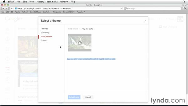 Using Events strategically: Google+ for Business (2012)