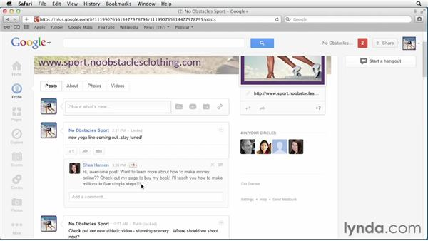 Deleting photos and posts: Google+ for Business (2012)