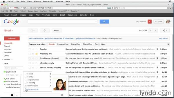 Connecting with Google+ circles through Gmail: Google+ for Business (2012)