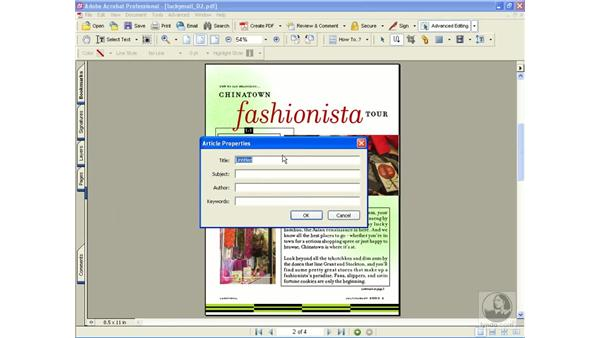 creating articles: Learning Acrobat 6