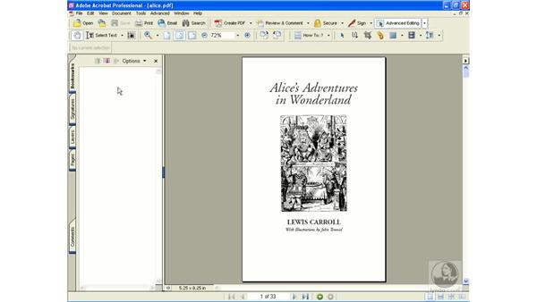 creating bookmarks: Learning Acrobat 6