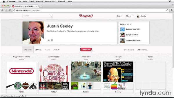 Following explained: Up and Running with Pinterest