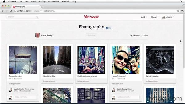 Exploring your friends' boards: Up and Running with Pinterest