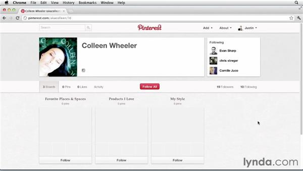 Unfollowing users and boards: Up and Running with Pinterest