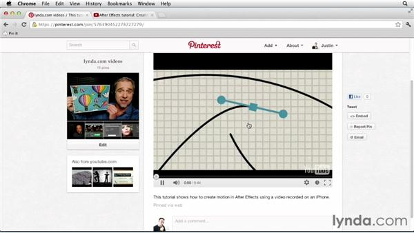 Adding video pins: Up and Running with Pinterest