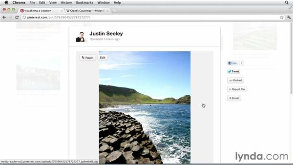 Visualizing a vacation: Up and Running with Pinterest