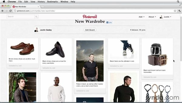 Building a wardrobe: Up and Running with Pinterest